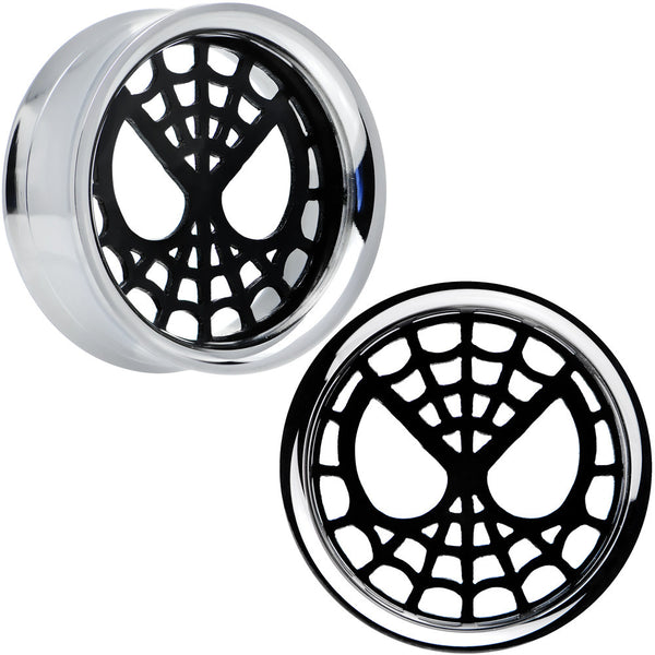 1 inch Licensed Spider-Man Steel Screw Fit Tunnel Plugs Set