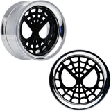 3/4 Licensed Spider-Man Steel Screw Fit Tunnel Plugs Set