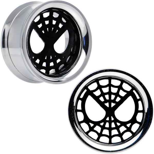 "3/4"" Licensed Spider-Man Steel Screw Fit Tunnel Plugs Set"