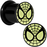 00 Gauge Licensed Spider-Man Glow in the Dark Screw Fit Plugs Set