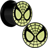 "1/2"" Licensed Spider-Man Glow in the Dark Screw Fit Plugs Set"