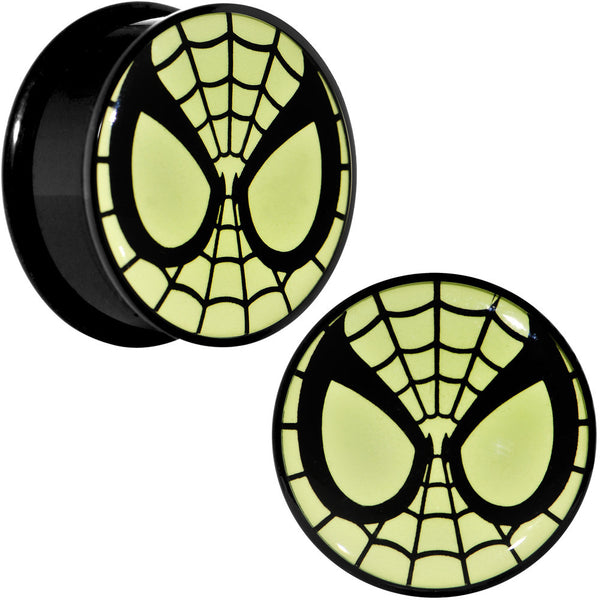 1 inch Licensed Spider-Man Glow in the Dark Screw Fit Plugs Set