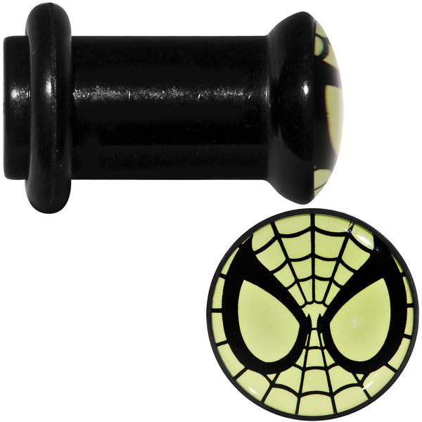 2 Gauge Licensed Spider-Man Glow in the Dark Screw Fit Plugs Set