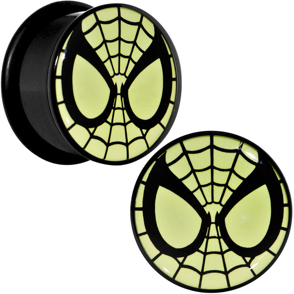 "3/4"" Licensed Spider-Man Glow in the Dark Screw Fit Plugs Set"