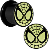 "7/16"" Licensed Spider-Man Glow in the Dark Screw Fit Plugs Set"
