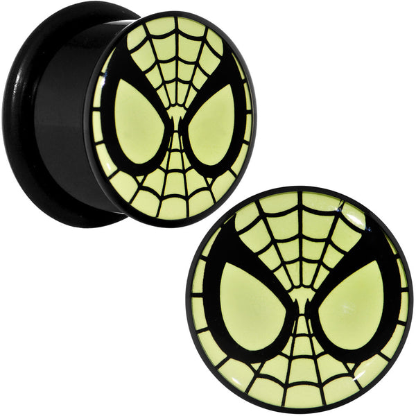 "9/16"" Licensed Spider-Man Glow in the Dark Screw Fit Plugs Set"