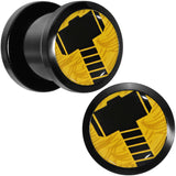 00 Gauge Licensed Hammer of Thor Acrylic Screw Fit Plugs Set