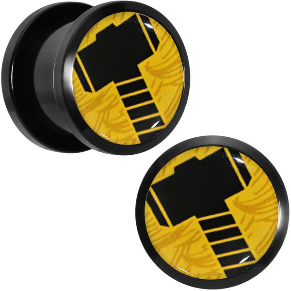 "1/2"" Licensed Hammer of Thor Acrylic Screw Fit Plugs Set"