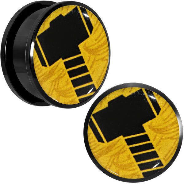 "1"" Licensed Hammer of Thor Acrylic Screw Fit Plugs Set"