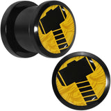 "7/16"" Licensed Hammer of Thor Acrylic Screw Fit Plugs Set"