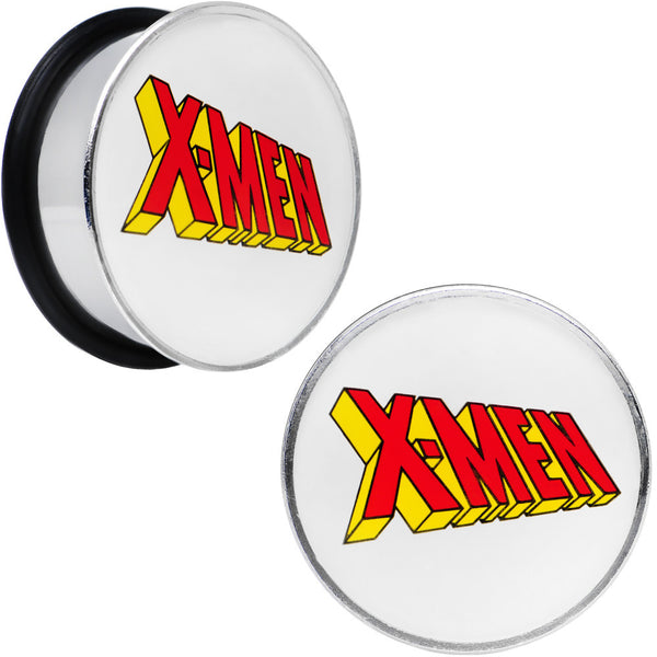 1 inch Licensed X-Men Single Flare Steel Tunnel Plugs Set