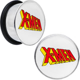 3/4 Licensed X-Men Single Flare Steel Tunnel Plugs Set