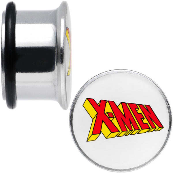 5/8 Licensed X-Men Single Flare Steel Tunnel Plugs Set