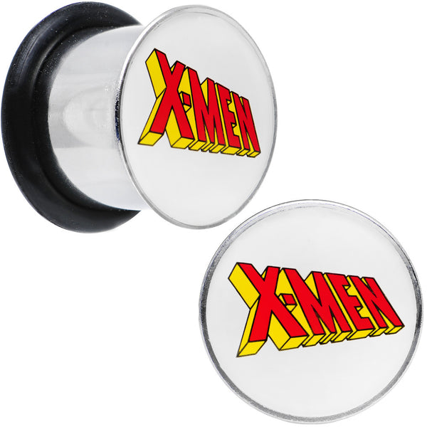 "7/16"" Licensed X-Men Single Flare Steel Tunnel Plugs Set"