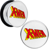 7/8 Licensed X-Men Single Flare Steel Tunnel Plugs Set