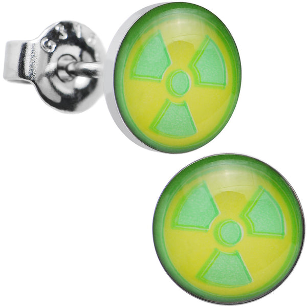 Licensed The Incredible Hulk Logo Stainless Steel Stud Earrings