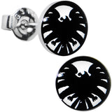 Licensed Hawkeye Logo Stainless Steel Stud Earrings