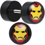 Licensed Iron Man Acrylic Cheater Plugs Set