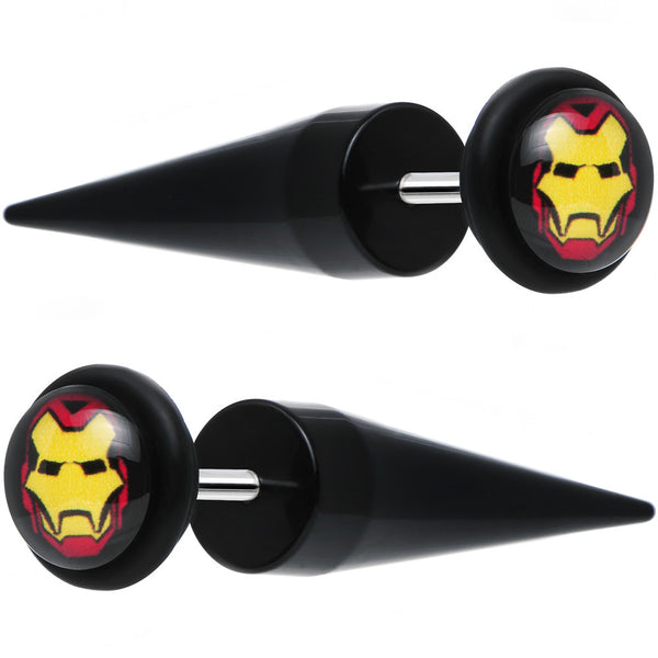 Licensed Iron Man Acrylic Cheater Tapers Set