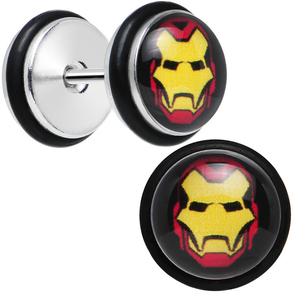 Licensed Iron Man Stainless Steel Cheater Plugs Set