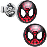 Licensed Spider-Man Stainless Steel Stud Earrings