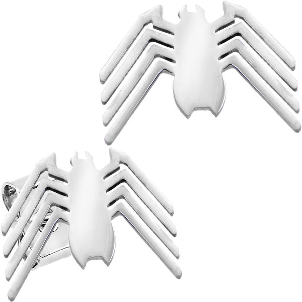 Licensed Silver Spider-Man Logo Stainless Steel Stud Earrings
