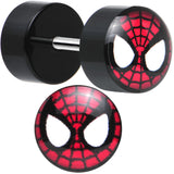 Licensed Spider-Man Acrylic Cheater Plugs Set