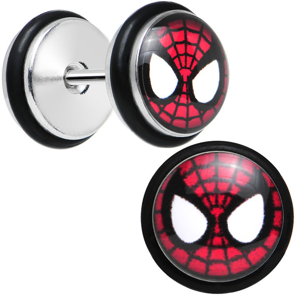 Licensed Spider-Man Stainless Steel Cheater Plugs Set