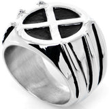 Licensed Wolverine X-Men Logo Stainless Steel Ring