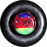 6 Gauge Green Red Blue Acrylic Vibrant Glitter Single Flare Plug