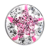 Clear Cubic Zirconia Pink Star Medallion Cartilage Tragus Earring
