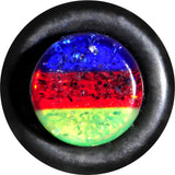 2 Gauge Blue Red Green Acrylic Vibrant Glitter Single Flare Plug