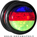 00 Gauge Blue Red Green Acrylic Vibrant Glitter Single Flare Plug
