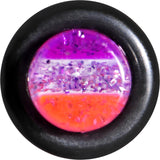 2 Gauge Multi Pink Acrylic Perfectly Rosy Glitter Single Flare Plug