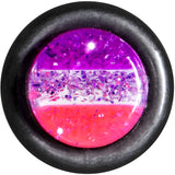 0 Gauge Multi Pink Acrylic Perfectly Rosy Glitter Single Flare Plug