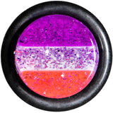 00 Gauge Multi Pink Acrylic Perfectly Rosy Glitter Single Flare Plug