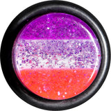"1/2"" Multi Pink Acrylic Perfectly Rosy Glitter Single Flare Plug"