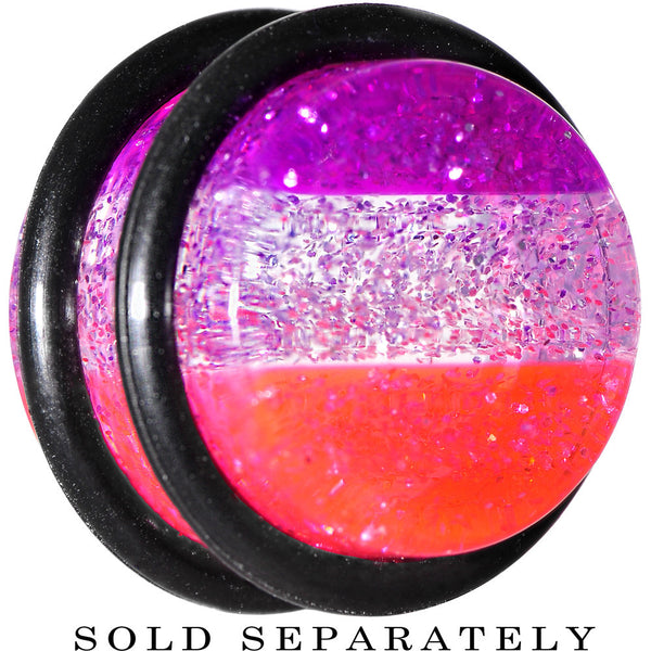 9/16 Multi Pink Acrylic Perfectly Rosy Glitter Single Flare Plug
