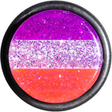 "5/8"" Multi Pink Acrylic Perfectly Rosy Glitter Single Flare Plug"
