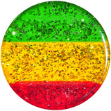 "1/2"" Green Red Yellow Acrylic Rasta Glitter Saddle Plug"
