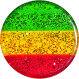 "9/16"" Red Yellow Green Acrylic Rasta Glitter Saddle Plug"