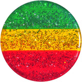 "5/8"""" Red Yellow Green Acrylic Rasta Glitter Saddle Plug"