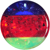 8 Gauge Blue Red Green Acrylic Vibrant Glitter Saddle Plug
