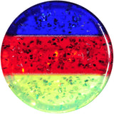 0 Gauge Green Red Blue Acrylic Vibrant Glitter Saddle Plug