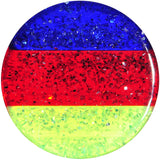 "1/2"" Green Red Blue Acrylic Vibrant Glitter Saddle Plug"