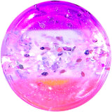 8 Gauge Multi Pink Acrylic Perfectly Rosy Glitter Saddle Plug