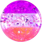 6 Gauge Multi Pink Acrylic Perfectly Rosy Glitter Saddle Plug