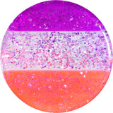 "1/2"" Multi Pink Acrylic Perfectly Rosy Glitter Saddle Plug"