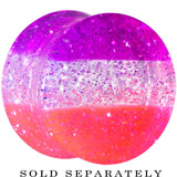 "9/16"" Multi Pink Acrylic Perfectly Rosy Glitter Saddle Plug"