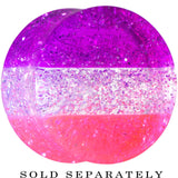 "5/8"" Multi Pink Acrylic Perfectly Rosy Glitter Saddle Plug"